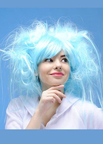Womens princesse perruque bleu de Turquoise Aqua
