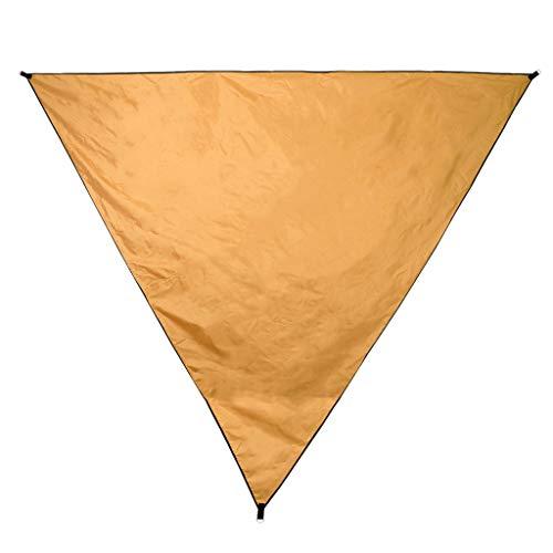 Baoblaze Wasserdicht Zeltplane, Camping Outdoor Plane, wasserdichte Picknickdecke mit Seil und Aufbewahrungstasche - Orange, 4x4x4m