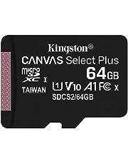 キングストン microSD 64GB UHS-I U1 V10 A1 Nintendo Switch動作確認済 アダプタ付 Canvas Select Plus SDCS2/64GB 永久保証