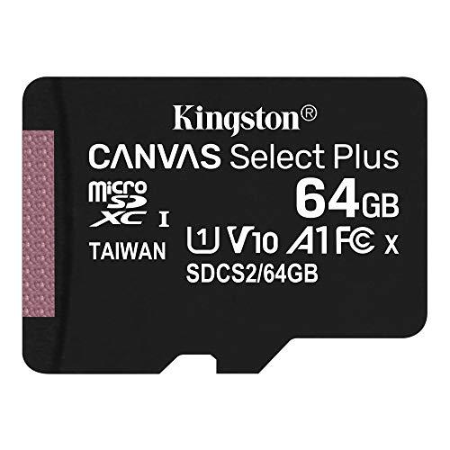 キングストン microSD 64GB 最大100MB/s UHS-I V10 A1 Nintendo Switch動作確認済 Canvas Select Plus SDCS2/64GB