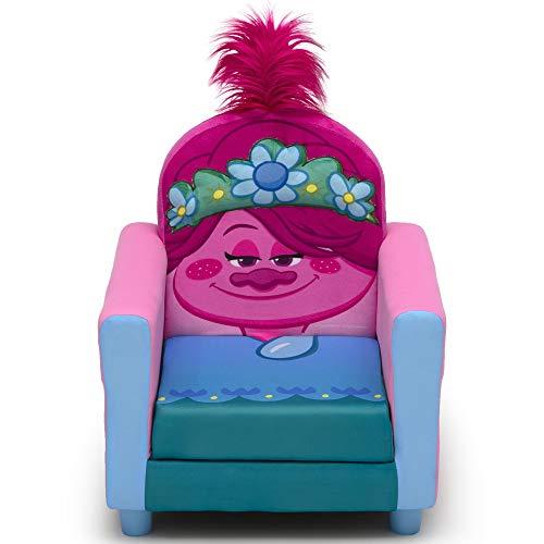 Delta Children Figural Upholstered Kids Chair, Trolls World Tour Poppy