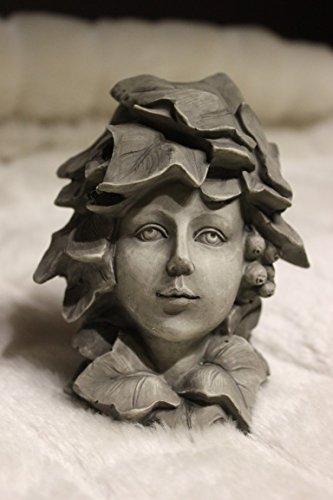 Fleurs Lierre, H 12 cm, pour enfant en résine couleur béton, par clipser sur tige, livré sans tige