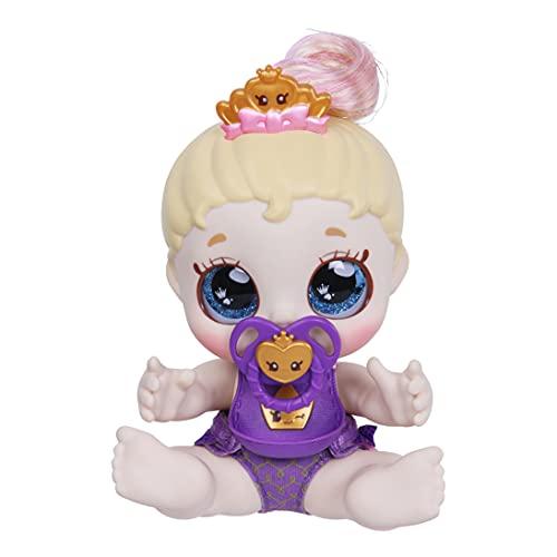 Kindi Kids Teenie Tiara - Muñeca de bebé Oficial con Ojos de Purpurina Grande, Brazos y piernas Blandas, pañal extraíble, Chupete y Babero