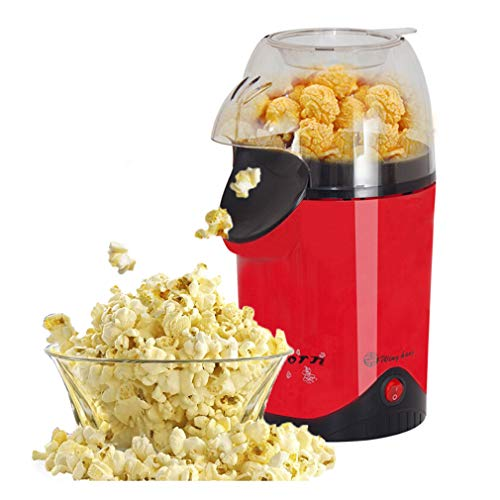 Purchase ALUS- Hot Air Electric Popcorn Maker, 1100W Popcorn With Measuring Cup And Removable Lid Fo...