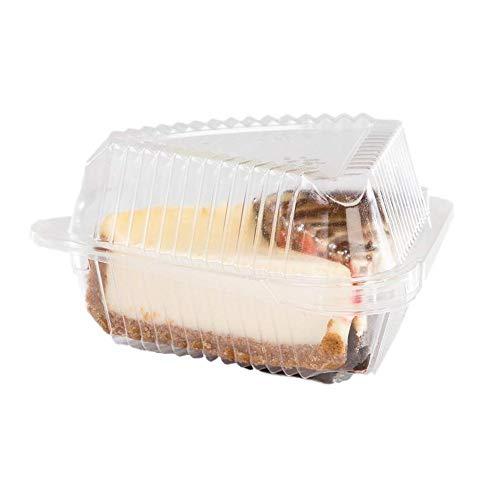 Ritapreaty 100 stuks plastic taart/koek/taart plak sandwich pizza doos Snack gebak transparante container