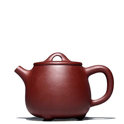Hand Purple Clay Ore Teapot Ladle Takaishi Work Cool Tea Tea 260 Ml Tea Sets (Color : Purple mud)