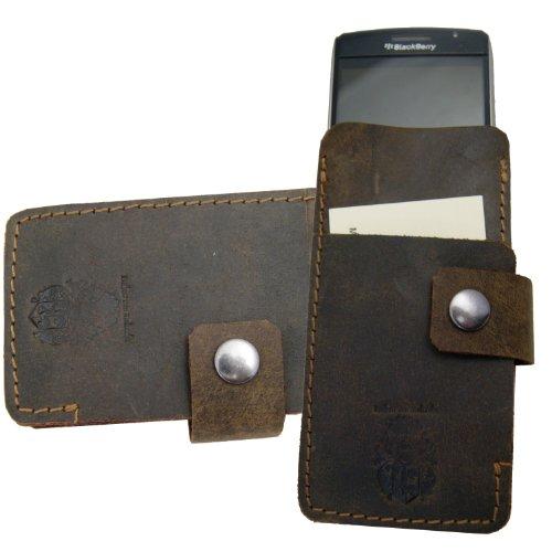 Freiherr von Maltzahn Smartphonehülle Handytasche Bell aus braunem Leder