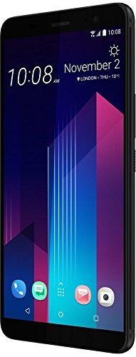 HTC U11 + Smartphone (15,24 cm (6 Zoll) Super LCD Display, 12,2 MP Kamera, 128 GB Speicher und 6 GB RAM, Android 8.0) Translucent Schwarz