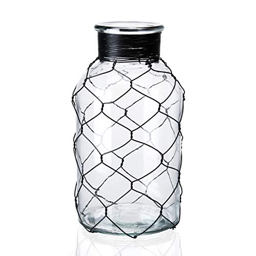 Diamond Star Decorative Glass Vase Chicken Wire Wrap Flower Vase for Home Decor (4' X 8')