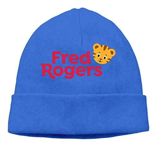 Da-Niel Tiger's Fashion Autumn Winter Knit Hat Hedging Cap Casual Cap Cotton Cap for Men Women Beanie Hat, Warm Stretchy Cap Blue
