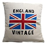 Kissenhülle Kissenbezug Flagge England Vintage UK 40 x 40 cm Kissen ohne Inhalt Deko GAC 142