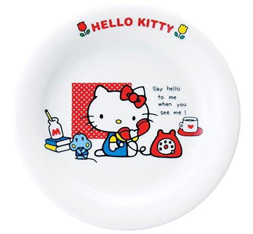 サンリオ(SANRIO) 「 Hello Kitty(ハローキティ) 」 新ハローキティ ケーキ皿 15.5cm 白 337528