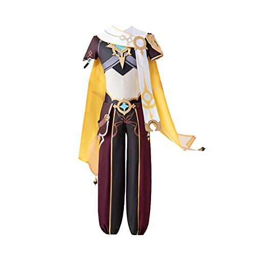 ULLAA Anime Genshin Impact Cosplay Traveller Aetherdisfraz carnaval disfraces de Halloween mujeres Lolita Lumine vestido dulce uniforme trajes L amarillo