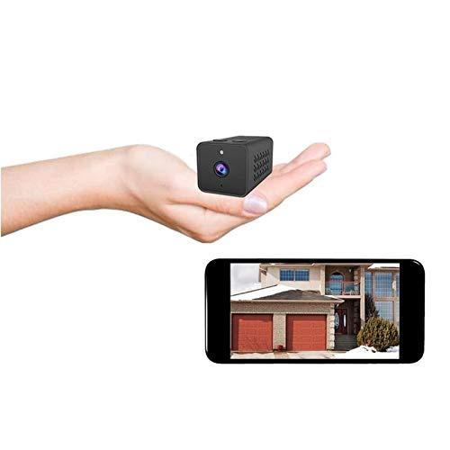 Cámara espía WiFi oculta, la cámara de vigilancia de seguridad más pequeña 1080P Full HD inalámbrica mini cámara espía, cámara WiFi inalámbrica portátil, cámara web de monitoreo remoto