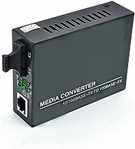 Jeirdus Fast Ethernet Duplex SC Fiber Optic to RJ45 Media Converter, 10/100M 2KM Multimode