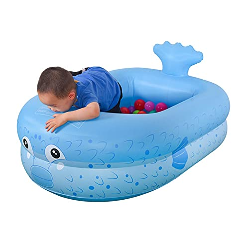 RJMOLU Piscina Inflable del bebé Powerfish Inflable balsa Flotante, 160 * 135 * 35cm Pool Kid's Pill, Centro de Juegos de Agua de Verano para niñas niños pequeños,Azul