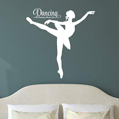 Dansen Ballerina Vinyl Sticker, Ballet Muursticker, 30 kleuren opties, 36