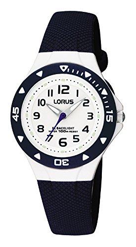 Lorus Kids Jungen-Uhr Edelstahl und Kunststoff mit Urethanband RRX43CX9