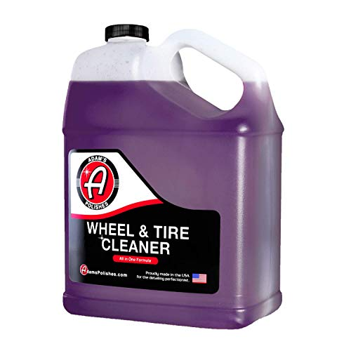 Adam's Wheel & Tire Cleaner Gallon - Professional All in One Tire & Wheel Cleaner Works W/Wheel Brush & Tire Brush | Car Wash Wheel Cleaning Spray for Car Detailing | Safe On Most Rim Finishes