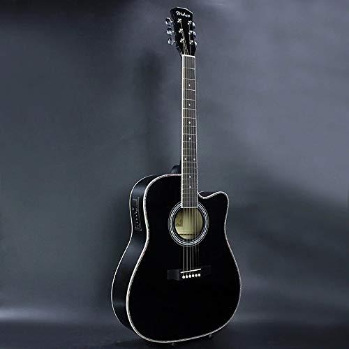 HUANH 41 pulgadas de gama media de la guitarra banda de caja eléctrica guitarra popular EQ tilo negro guitarra HUANH (Color : Black)
