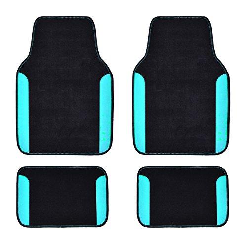 Eono by Amazon Rainbow - Alfombrillas universales impermeables para coche (4 unidades), color azul