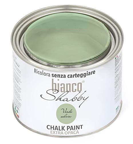 CHALK PAINT Verde Salvia Pittura Shabby Chic Vintage per Mobili e Pareti EXTRA OPACO (500 ml)