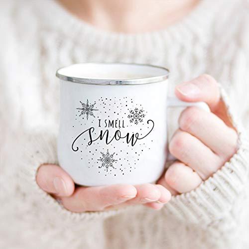Lplpol I smell Snow Camp Tasse, Christmas Camp Tasse, Christmas Mug, Gilmore Girls Mug, Holiday Lagerfeuer Tasse, Coffee Liebhaber Geschenk, Lieblingstasse
