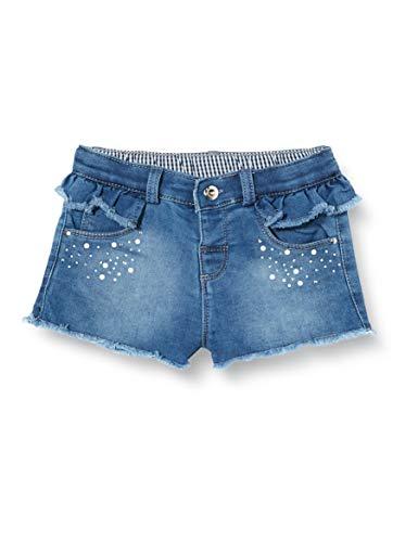Brums Baby-Mädchen Felpa Denim Con Strass Shorts, Grau (Stone Wash 01 148), 92 (Herstellergröße: 24M)