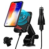 HASESS Wireless Car Charger, 10W Qi Fast Charging Wireless Car Mount Air Vent Phone Holder Infrared&Touch Sensing Fast Car Charger for iPhone XS/Max/XR/X/8/8 Plus, Samsung Galaxy S9/S9+,S8/S8+,Note 8