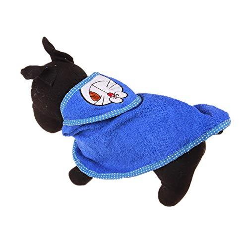 jieqing Toalla de Perro Toallas para Perros Seco Perro Toalla Gato de Secado Toalla Perro Secado Bolsa Perro Vestido Perro Toallas de Microfibra S,Deep Blue