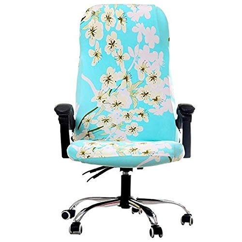 Z-Y Stoel hoes Roterende Office Computer Chair Cover Spandex Covers for stoelen Lycra Chair Stretch Case for draaistoel Fauteuil Work Seat Nieuw #z (Color : F, Specification : Universal)