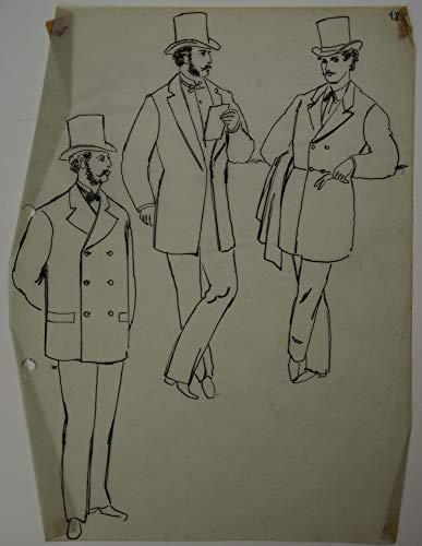 H. W. Fichter Kunsthandel Klepper, E, Modestudie/DREI Herren, DREI Jacken, Feder