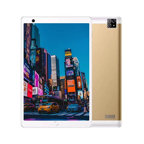 10G RAM + 256G ROM Android 11 Tablet PC 8' Dual SIM 4G-LTE WiFi inalámbrico Phablet (Oro)