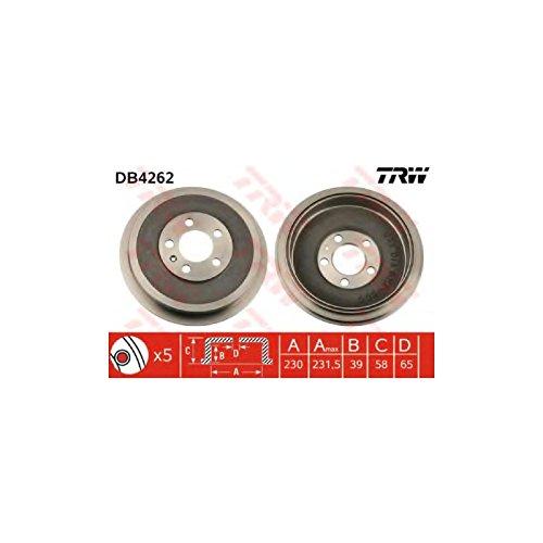 2x TRW Tambour de frein HINTEN pour VW POLO 6R, 6C pour SKODA OCTAVIA 1U2