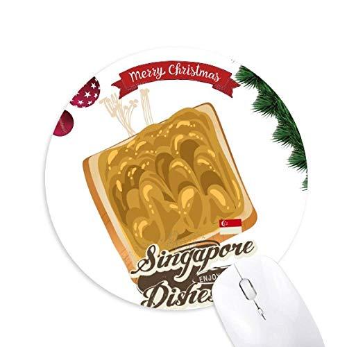 Traditionelle Singapur Kaya Toast Runde Gummi Maus Pad Weihnachtsbaum Mat