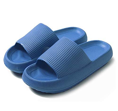 HSY SHOP Ortopedia para Mujer, cómodas, Zapatillas de Verano de Primera Calidad, Chanclas con tacón Plano, Regalos, Transpirables, cómodas (Color : Blue, Size : 7.5-8 Women/6-7 Men)