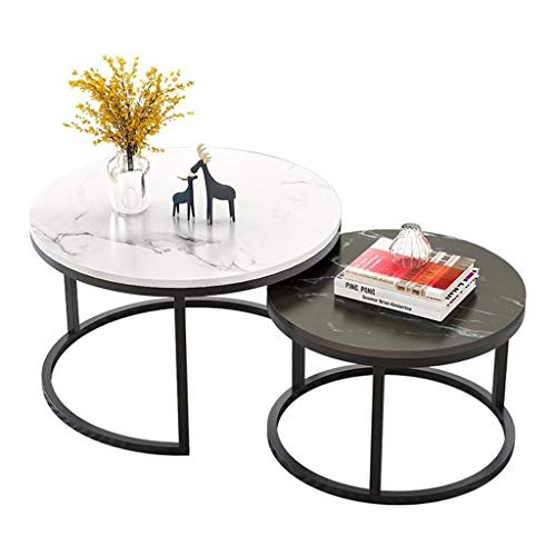 Kunstmatige Marble Nordic Side Table Ronde Combinatie snack Modern Zwart-wit Nesting Table
