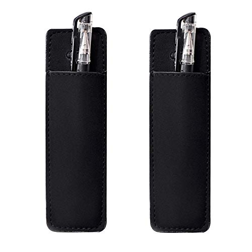 Fridge Pen Holder Magnetic Leather Marker Pouch for Refrigerator or Metallic Surfaces (2 PCS Pen Holders)