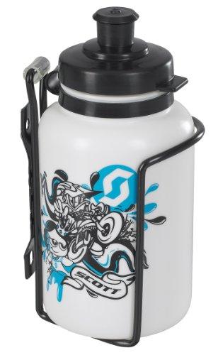 Scott 219671 - Botella de agua infantil para bicicletas con portabidón, color negro negro negro