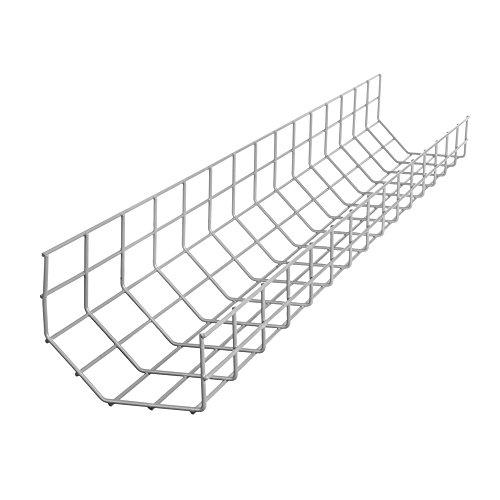 R-Go Tools R-Go Steel Basic - Cable (plateado, Bandeja portacables recta, Acero, Gris, Países Bajos, 10 mm, 11 mm)