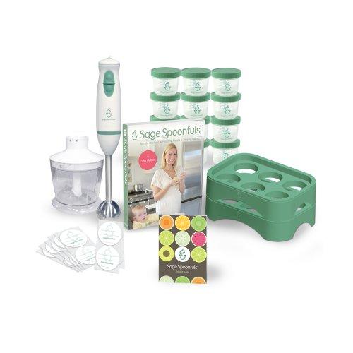 Baby Food Maker 19 Pc Starter Kit - Includes Immersion Blender, Food Processor, Storage Jars, Trays, Recipe Book, & More