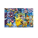 ASDZZ Pósters de Pokémon sobre lienzo y póster de pared, impresión de imagen moderna para habitación familiar, 60 x 90 cm
