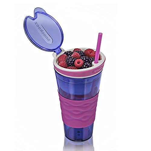 Snackeez - The All-in-one, go-Anywhere Cup That?s a Snack and Drink Holder! - Blue