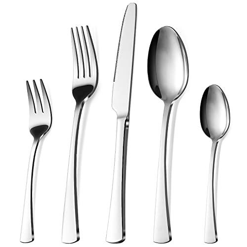 Bestdin Besteck Set 6 Personen, 30 teilig Edelstahl Besteckset, Essbesteck Set mit Messer Gabel Löffel, Hochwertiges Edelstahlbesteck, Spülmaschinenfest.