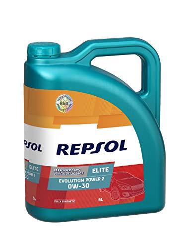 REPSOL Elite Evolution Power 2 0W-30 Aceite De Motor Para Coche, 5L