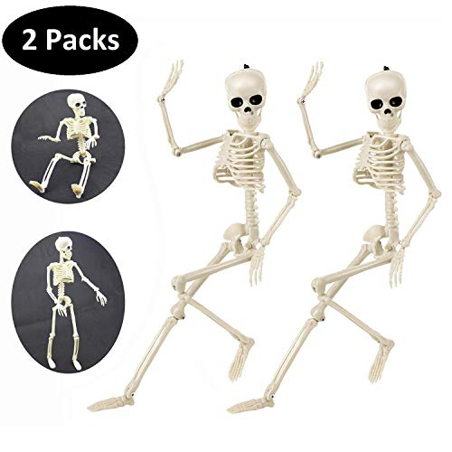 2 Pack Halloween Skeletons, 16″ Full Body Realistic Now $17.99