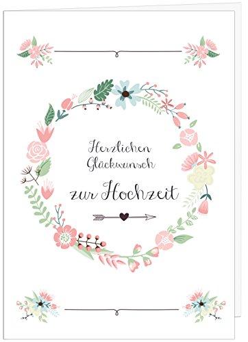 """Hochzeitskarte Glückwunsch A4 // Hochzeitskarte groß\""""Sanfte Farben\"""" // große Hochzeitskarte edel // Hochzeitsdeko // von Sophies Kartenwelt"""