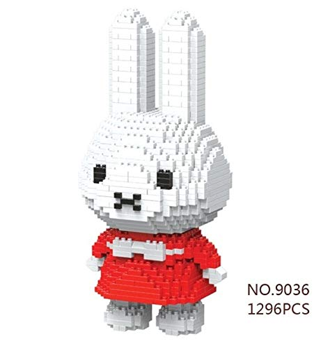 Zenghh La magia del bloque hueco grande 7.2in miniatura Miffy Ventilador Modelo Niño Puzzle gato encantador del juguete muñecas de la historieta japonesa, Vogue Crafts Collection Por adolescentes y ni