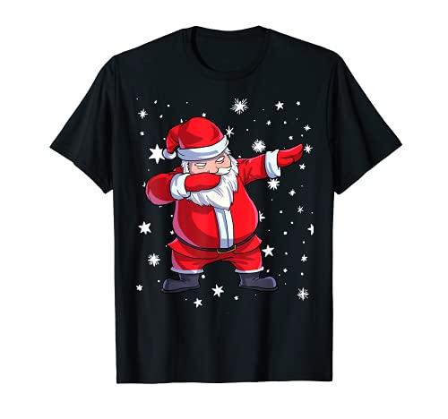 Camiseta de Papá Noel para niños ropa de Navidad Camiseta