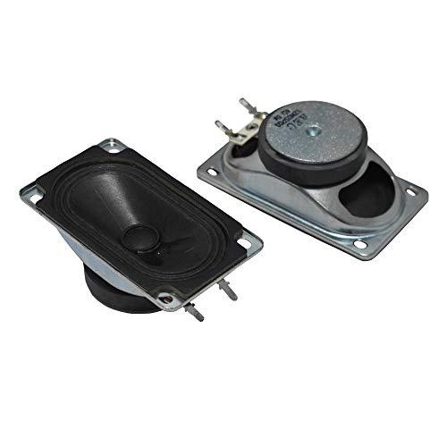 WNJ-TOOL, 2 stücke 5090 TV-Lautsprecher 4Ohm 5w Werbung LCD-TV-Lautsprecher-Rechteck-Lautsprecher-Gerät Eisenschale Horn für Heimkino